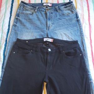 2 NWOT CABI jeans super skinny/high straight